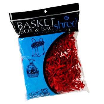 2 Pack: Gift Basket Bag and Box Shred 2 Oz Bag Red