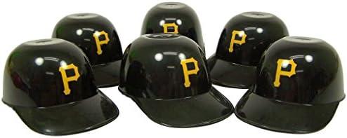 Pittsburgh Pirates MLB Mini Batting Helmet Ice Cream Snack Bowls- 6pk