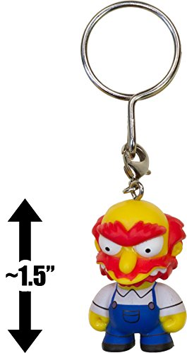 "Groundskeeper Willie ~1.5"" Mini-Figure Keychain: The Simpsons x Kidrobot 3D Vinyl Keychain Series [RARE] - 1"