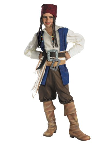 boys - Child Jack Sparrow Quality Costume 10-12 Halloween Costume