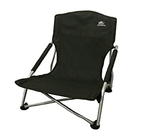 SunnCamp Super Deluxe Comfy Low Camping Chair - Black