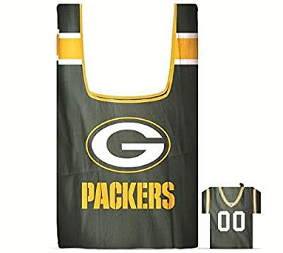 NFL Green Bay Packers Eco Friendly Reusable Grocery Bags with Jersey Style Storage Pouch