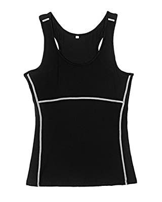 Neleus Women's 3 Pack Dry Fit Athletic Compression Sport Running Tank Top