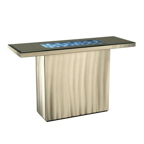 Cheap Nova Lighting 5210000 Shattered Console Sofa Table, Brushed (B005EH4RV2)