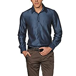 Provogue Men's Casual Shirt (8903522441318_103526-BL-181_Small_Navy)