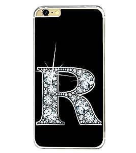 Alphabet R 2D Hard Polycarbonate Designer Back Case Cover for Apple iPhone 6S