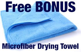 Premium Wash Mitt (2-pack) with FREE DRYING TOWEL, Double Sided - Ultra-soft, Super Absorbent - Universal One Size Fits All Wash Glove - Lint Free - Scratch Free - Use Wet or Dry, Lifetime Warranty by BlueCare Automotive