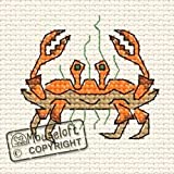 Mouseloft Mini Cross Stitch Kit Crab By the Seaside Collection