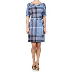 Burberry (バーバリー) ドレス (F-50-Kl-29386) - XS(US) / 40(IT) - ブルー [並行輸入品]