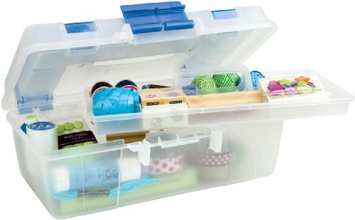 Creative Options Tool Box Organizer, Clear And Blue Review