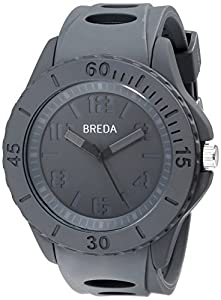 Breda Men's 9300-Grey Dylan Modern Monochromatic Grey Lifestyle Watch