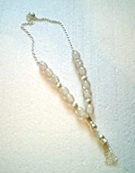 Worry Beads - Komboloi, White with Silver
