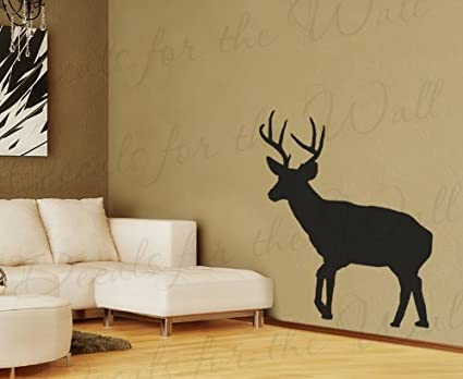 Deer silhouette wall decal images for Deer wall decals
