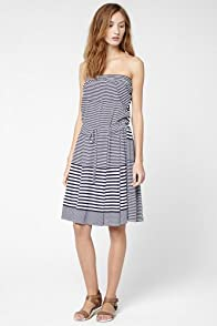 Variegated Stripe Fluid Pique Tube Dress