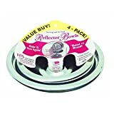 Range Kleen 10124XN Universal Drip Pans 4 Pack Containing 2 Units 101Am and 102Am, Chrome