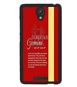 Xiaomi Redmi Note 2 Pro, Fuson Premium Gorgeous Gemini Designer Metal Printed with Hard Plastic Back Case Cover