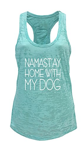 Tough-Cookies-Womens-Yoga-Burnout-Namastay-At-Home-With-My-Dog-Tank-Top-Large-Mint