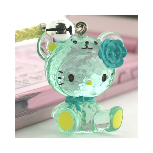 Sanrio Hello Kitty Crystal Bear Netsuke Cell Phone Strap