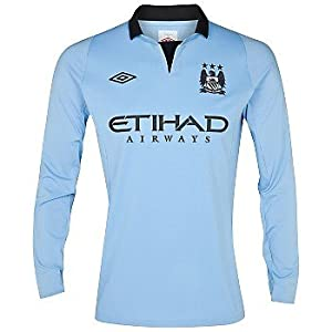 2012-13 Man City Home Umbro Long Sleeve Shirt