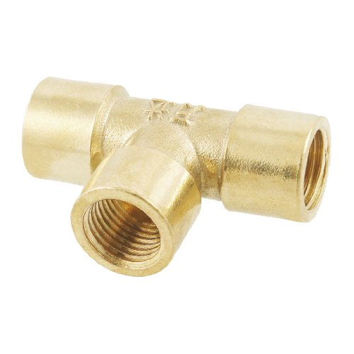 """1/four"""" Feminine Thread three Means T Formed Equivalent Tee Coupling Brass Pipe Becoming Adapter"""