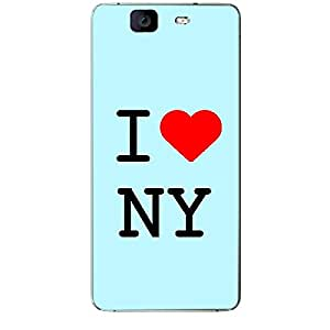 Skin4gadgets I love New York - NY Colour - Light Blue Phone Skin for MICROMAX CANVAS KNIGHT (A350)