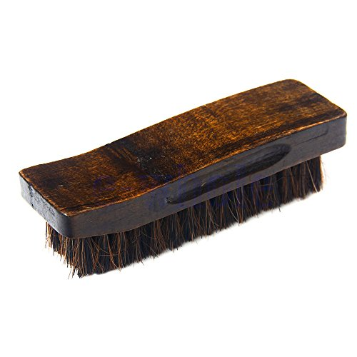 Practical Natural Bristle Horse Hair Shoe Shine Polish Buffing Wooden Brush TW