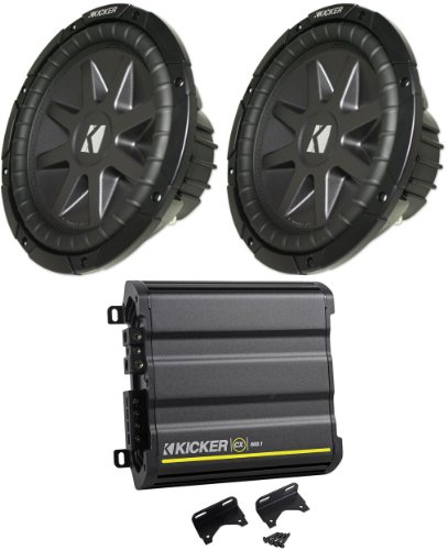 "Package: (2) Kicker 10Cvr10-2 Comp Vr Series 10"" 2 Ohm Dual Voice Coil 1600 Watt Car Subwoofers + Kicker Cx600.1 1200 Watt Peak/600 Watt Rms Mono Block Amplifier Class D Car Amplifier"