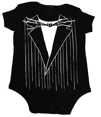The Nightmare Before Christmas Disney Jack Skellington Suit Costume Baby Creeper Romper Snapsuit Snapsuit Size: 12-18 Months