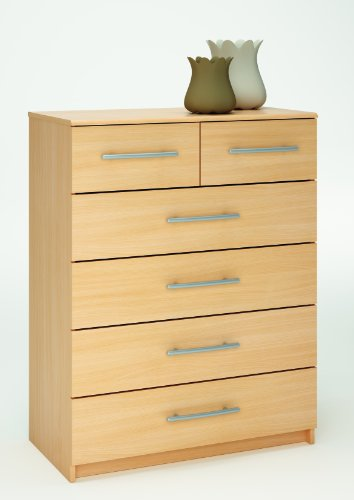 Washington 4+2 Chest of Drawers Beech