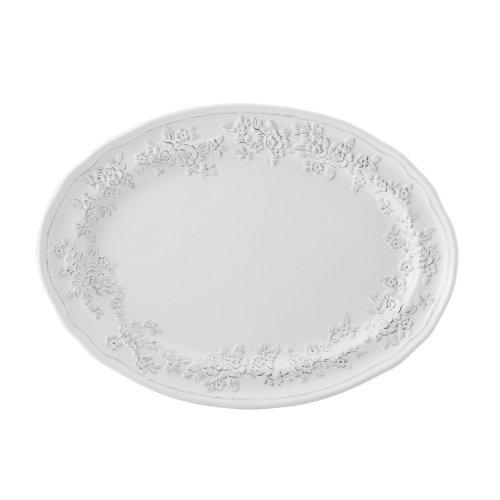 Pfaltzgraff Antique Tea Rose Oval Platter - White