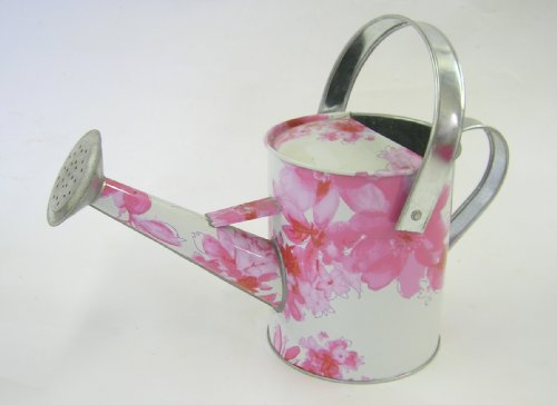 Pink Flower Design Watering Can- Small