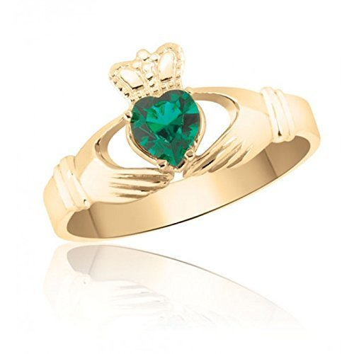 10k-yellow-gold-emerald-green-celtic-claddagh-ring-friendship-love-and-loyalty-marriage-engagement-i