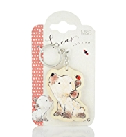 Bear & Bird Wooden Keyring