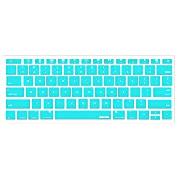 iBenzer - Macaron Serie Keyboard Cover Silicone Rubber Skin for Macbook Pro 13\'\' 15\'\' 17\'\' (with or without Retina Display) Macbook Air 13\'\' and iMac - Turquoise MKC01TBL