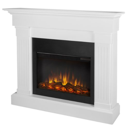Real Flame Crawford 8020-X-CO SLIM LINE Electric Fireplace in White - Mantel Only image B00GM1TJDK.jpg