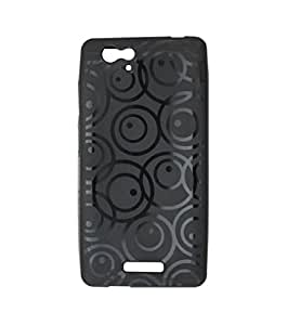 ECellStreet Exclusive Textured Soft Back Case Cover Back Cover For Gionee Marathon M3 - Black