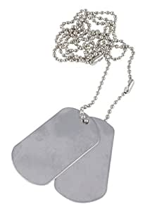 Mil-Com Army Style Dog Tags - Silver