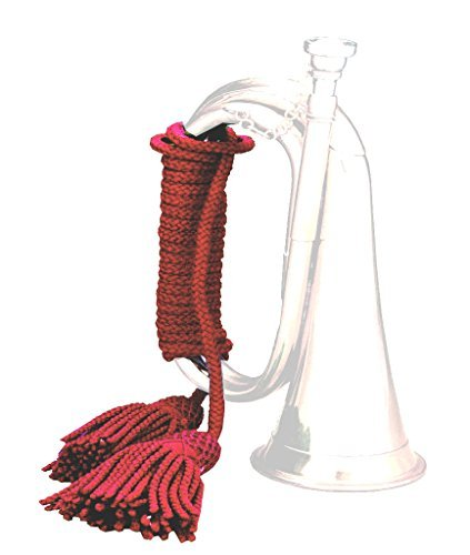 8-foot Silk-Wool Cord / Rope for Scout Bugle & Bagpipes. Choice of Colours: Red, Navy Blue, Bottle Green, Multi-Colored, CRIMSON RED