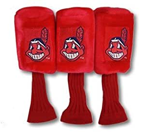 Cleveland Indians MLB 3 piece Golf Headcover set