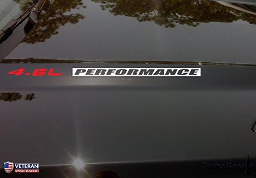 4.6L [Chrome] Performance [Matte Black] Hood Vinyl Decal Emblem Ford 17.500-by-.750 inches (Inverted) (Bullitt Emblem compare prices)