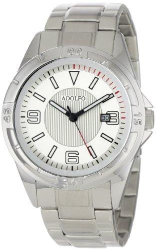 ADOLFO Men's 31027A Round Calendar Rotating Bezel Watch