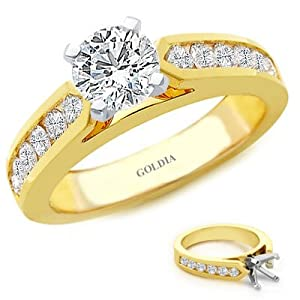 1.50 Ct. tw. Channel-Set Engagement Setting with Round Diamond