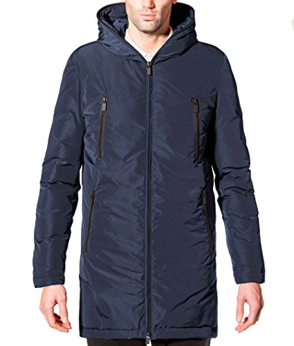 ECOALF - Livorno Down Coat Man, Cappotto da uomo, blu (midnight navy 163), M