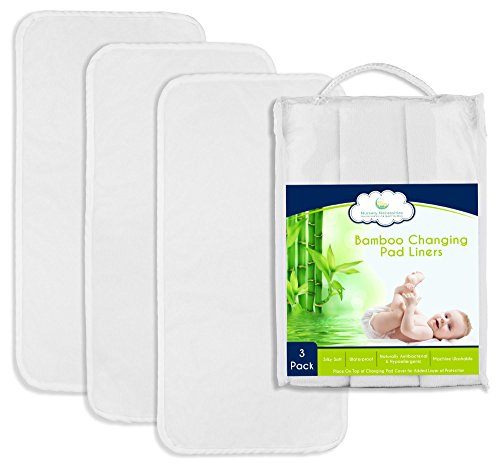 #1 BEST Bamboo Changing Pad Liners - Thicker & Highest Quality Fabric - 26.5