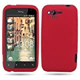 RUBBER RED SOFT GEL Phone Cover Sleeve Silicone SKIN Case for HTC RHYME / BLISS (VERIZON) - SOGA Wireless [SWB198]