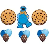 Cookie Monster Sesame Street Chocolate Chip Happy Birthday Balloon Party Set by Anagram