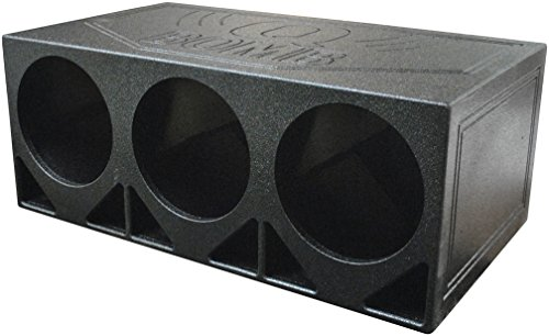 "Qpower 3 Hole 12"" Turbo Ported Empty Woofer Box"