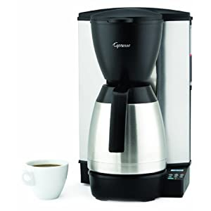 Capresso MT600 10-Cup Programmable Coffeemaker with Stainless-Steel Thermal Carafe