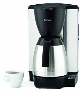 Capresso MT600 10-Cup Programmable Coffeemaker with Stainless-Steel Thermal - Coffee, Tea & Espresso