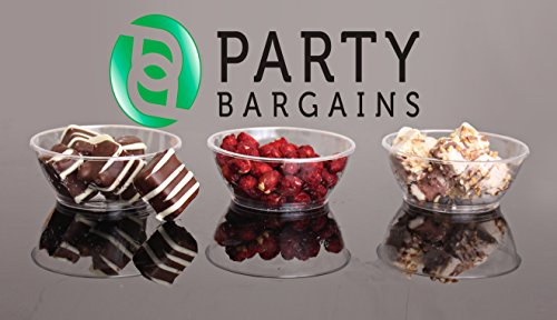 Party Bargains Hard Plastic 6 Ounce Clear Dessert Bowls, Pack of 50 (Sorbet Serving Bowls compare prices)